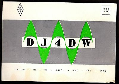 "QSL QSO Radio Card ""DJ4DW,Wilfried Friedrich"", Western Germany (Q3434)"