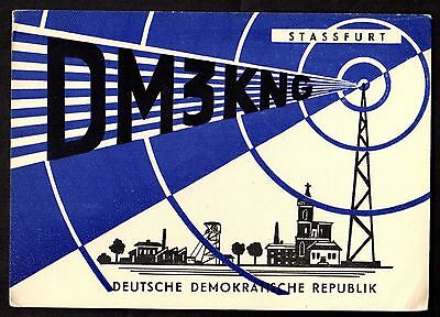 "QSL QSO Radio Card ""DM3KNG,Antenna/Signal,German Democratic Republik"", (Q3457)"