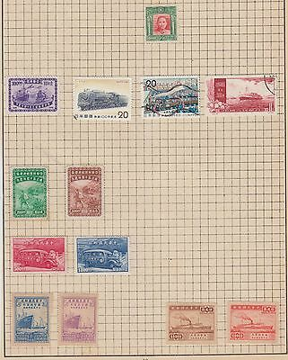 A Selection Of China Stamps Cut From Very Old Album  Wk10 Page 12