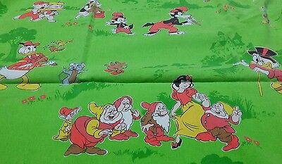 Disney Bettwäsche vintage bedding Mickey Minnie Snowwhite 80s 90s fabric