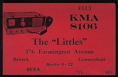 "QSL QSO RADIO CARD ""Elly/The Littles/KMA 8106"", Bristol, CT (Q1307)"