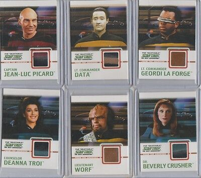 Star Trek TNG Quotable costume card C1 Picard DUAL red on top