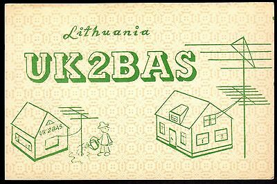 "QSL QSO Radio Card ""UK2BAS,House,Antenna,Victor"", Siauliai, Lithuania"", (Q3395)"