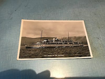 M.V Queen of the Channel Vintage Postcard