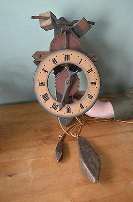 Baumann Black Forest Wooden Gear Clock- Rare