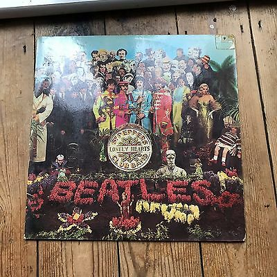 Beatles Sgt Peppers Lonely Hearts Club Band Vinyl original album PMC 7027
