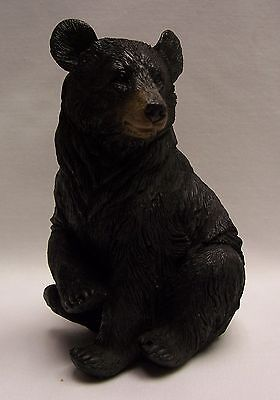 Black Bear Sitting 1 Paw Up Figurine Rustic Home/Cabin Decor (NBC)