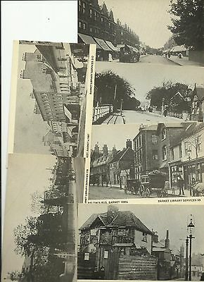 [Ref.197] 6 (SIX) OLD POSTCARD 1970's BARNET LIBRARY CARDS, HERTFORDSHIRE