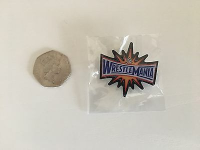 Wwe Wrestlemania 33 Metal Pin Badge Wwf