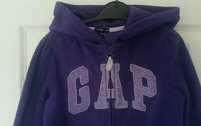 Girls Purple GAP zip up fleece hoodie Age 5 years
