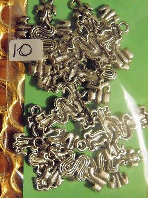 """10x Bulk Lot Silver Plated """"SNAKES"""" Charms Necklaces(K4)=GOTHIC SKULLS SA"""