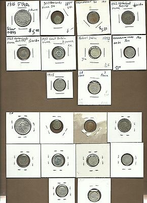 1850-1963 World Silver Coin lot of 10