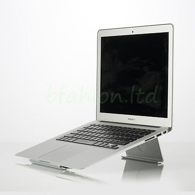 Solid Aluminium Cooling Desktop Stand for all Apple MacBook & Other Laptops