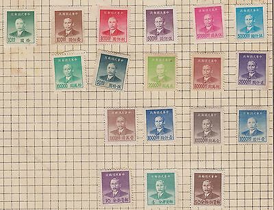 A Selection Of China Stamps Cut From Very Old Album  Wk10 Page 15