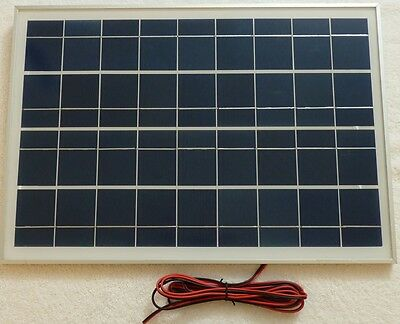 New 25W PV Solar Panel for charging 12v or 24v battery system c/w 3m cable UK