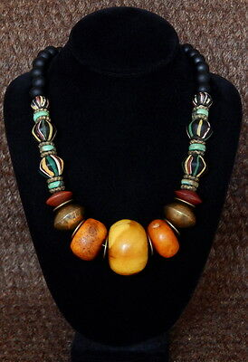 Hand Made Vintage African Amber Necklace