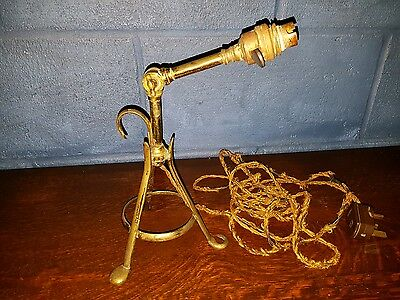 Antique Arts & Crafts Articulated Brass Benson Style Pullman Lamp