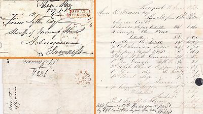 Gb : Paid At Liverpool Entire To Sheriff Of Inverness With Grocery Bill (1833)