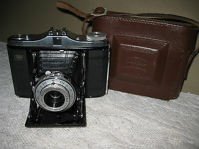 Vintage Zeiss Ikon Nettar Folding Bellows Film Camera with Case  517/16 Germany
