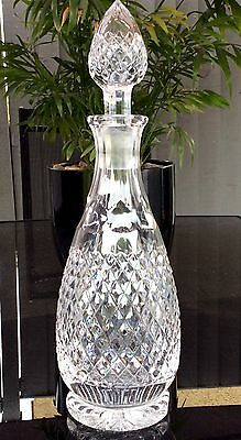 Stuart England Fine Quality Crystal Decanter DORCHESTER Cut Pattern,SIGNED