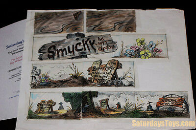 1989 Stephen King PET SEMATARY Colored Storyboard Title Art Graves Roy Wilson
