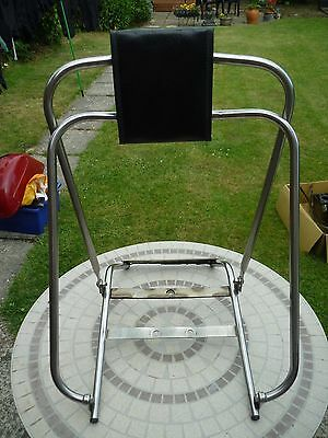 Vespa stainless steel flip over back rest to fit ss180 rally sprint vbb old type