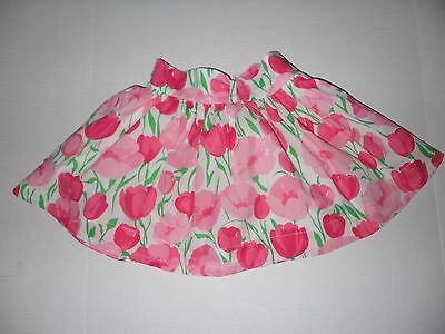 Summertime Janie and Jack Girls Floral Pattern Fully Lined Cotton Skirt, Sz 4