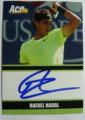 Ace Authentic Rafael Nadal  Signed Card