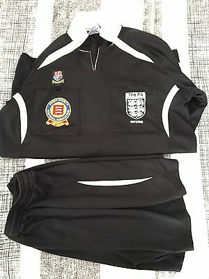 Size Small Referee Football Top & Shorts - Essex FA
