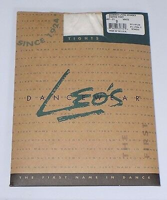 Leos Dancewear: Shimmer Lycra Spandex Footed Tights *Size C/White* (157k)