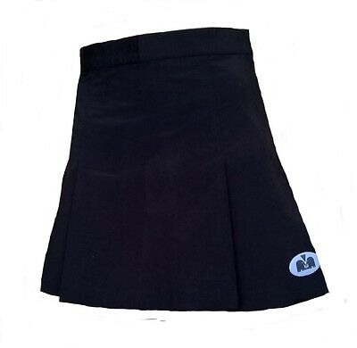 Womens 10 Small TK Wien Skirt BLACK Hockey Netball Tennis 38 wo