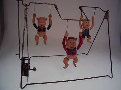 "GSCOM DISNEY "" THREE LITTLE PIGS ACROBAT GYM"", BRAND ?,  28x24cm, GOOD !"