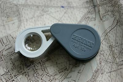 original ZEISS West Germany 10x APL. EINSCHLAGLUPE Lupe LOUPE Folding Magnifier