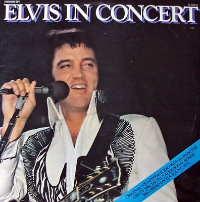 ELVIS PRESLEY: ELVIS IN CONCERT '77 UK  Double LP  EX/EX