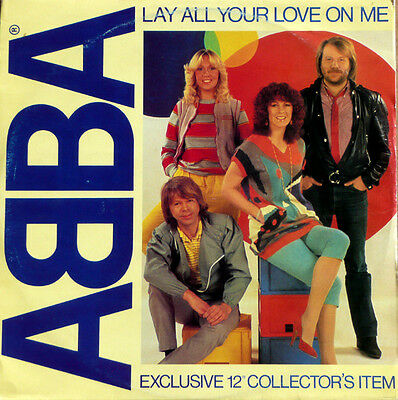 """ABBA – Lay All Your Love On Me Vinyl 12"""" Single 1981 - Collectors Item -EX/VG+"""