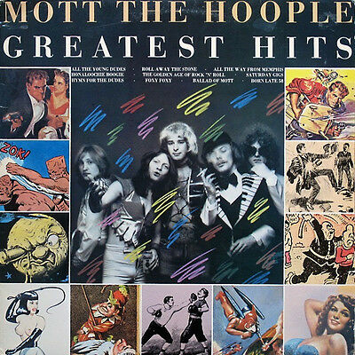 MOTT THE HOOPLE ‎- Greatest Hits LP  - 1976 UK LP - EX/VG+