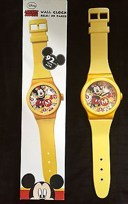 Disney Mickey Mouse Watch Style Wall Clock - Yellow