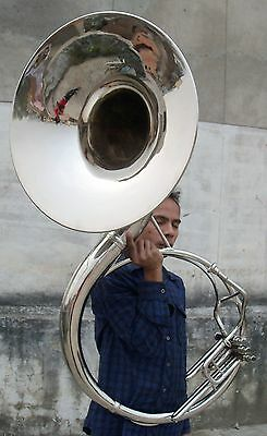 Sousaphone Tuba Horn Professional Size 22 Inch Brass Polish With Case & Mouthpc