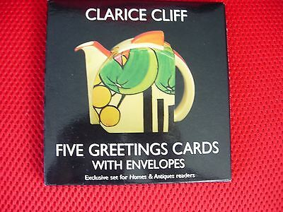 Clarice Cliff - Five Greeetings Cards with envelopes