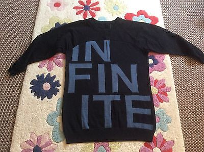 Long black jumper/sweatshirt with Infinite logo size 12/14/16