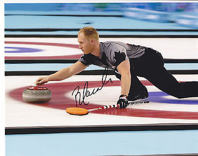 Brad Jacobs Signed Autographed Canada Curling Olympics 8X10 Photo Exact Proof