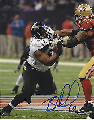 Bryan Hall Signed Autographed Baltimore Ravens Super Bowl 8X10 Photo Exact Proof