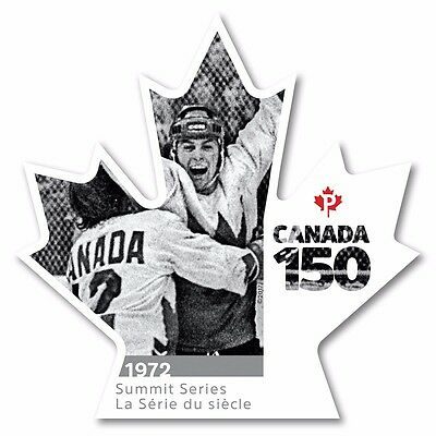 ca. CANADA 150, HOCKEY SUMMIT SERIES 1972, Unique Booklet Die-Cut Stamp MNH 2017