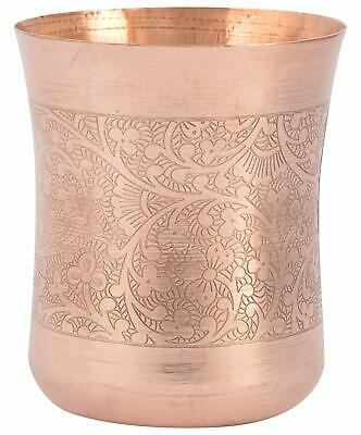 1 Pcs 100% Pure Copper Indian Handmade Glass/Cup Drinking Water U02