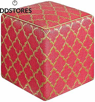 Tanger Cube Pouf Pinkberry Bronze