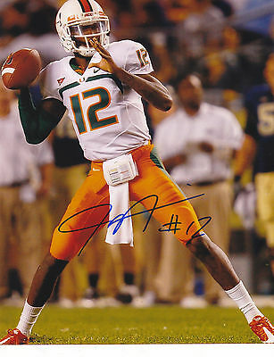 Jacory Harris Signed Autograph The U Miami Hurricanes 8X10 Photo Proof #2