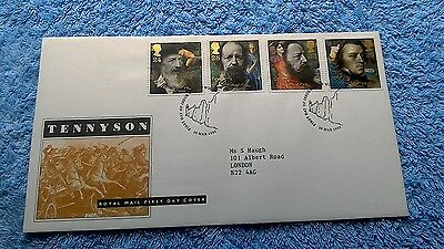 Tennyson First Day Cover 1992 Isle Of Wight          A5