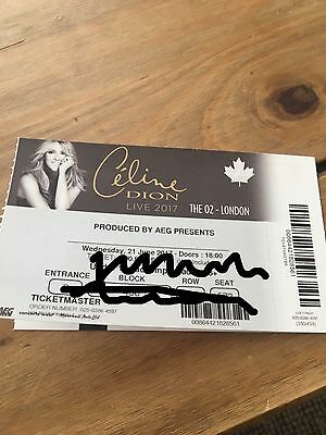 Celine Dion Tickets SEATED TOGETHER **PRICE IS For 2 Tickets