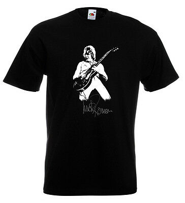 Mick Ronson Autograph T Shirt Spiders From Mars Ziggy Stardust David Bowie