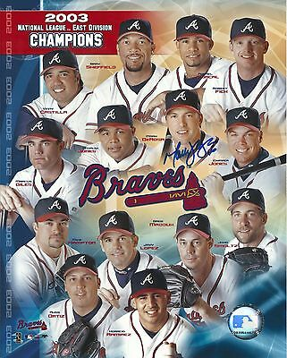 Mark DeRosa Baseball Team Photo signed & autograph 8x10 Atlanta Braves
